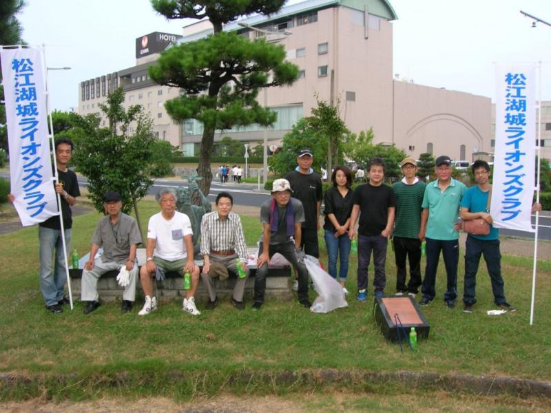 宍道湖岸清掃のメンバー