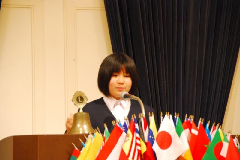 島根県知事賞の松江市立第一中学校 林英里さん