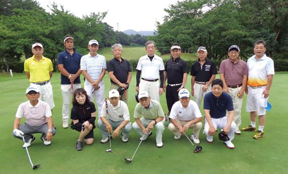 ゴルフコンペ集合