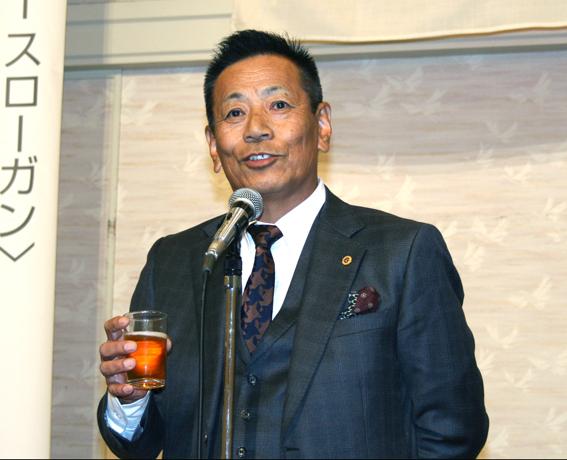丹羽LC増田会長の挨拶/歓迎例会にて
