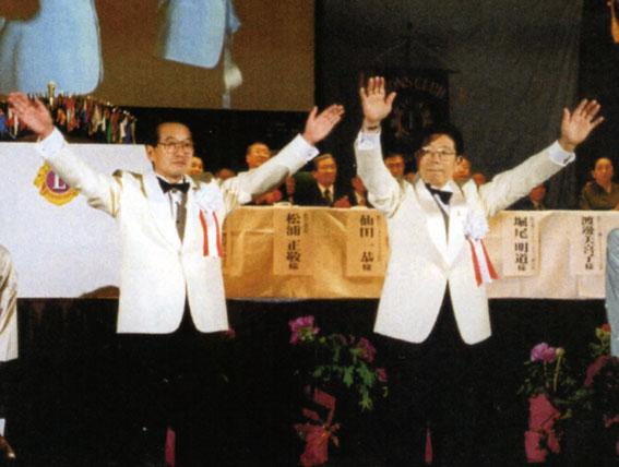 2003年4月・第49回年次大会(松江)現ガバナーとして登壇